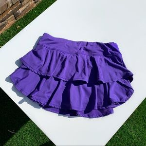 PURPLE RUFFLED TENNIS SKIRT